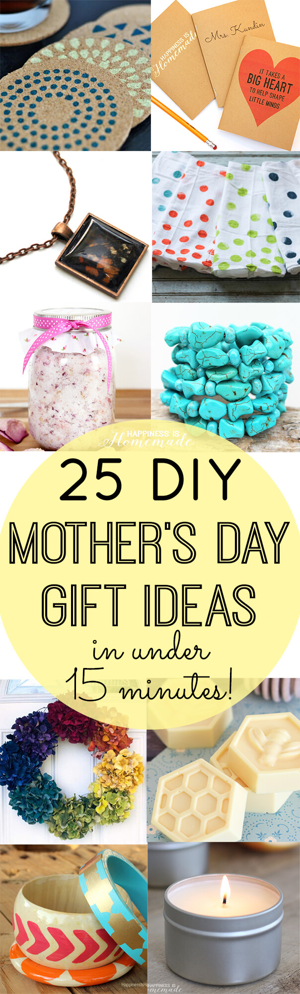 Awesome Diy Mother's Day Gifts Diy Mother S Day Gifts In Under 15 Minutes Happiness Is Homemade