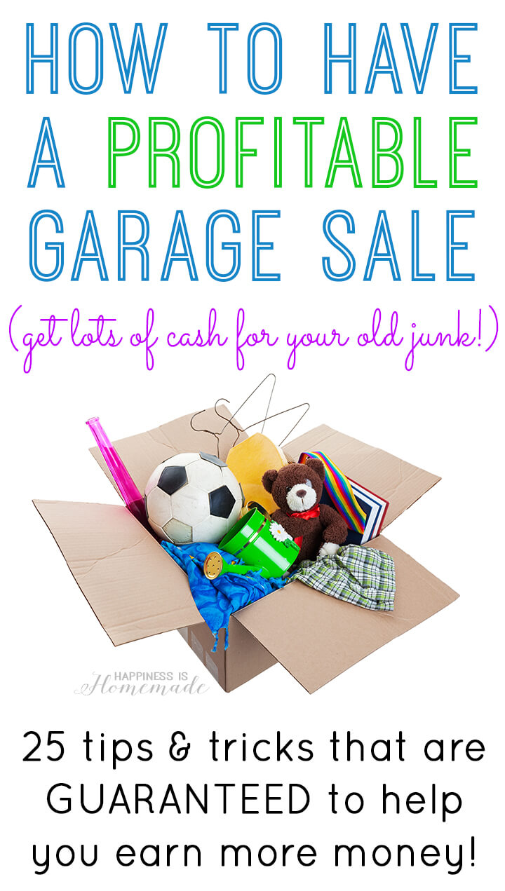 Garage Sale Price Stickers How To Have A Very Profitable Garage Sale Happiness Is Homemade