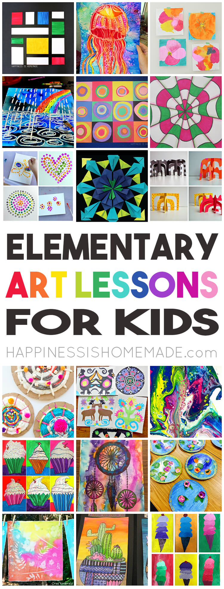 Art And Craft For Preschool 36 Elementary Art Lessons For Kids Happiness Is Homemade
