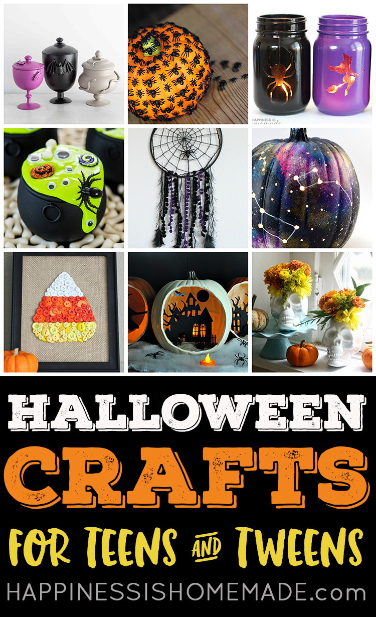 Art Decorating And Crafting Easy Halloween Crafts For Teens Happiness Is Homemade