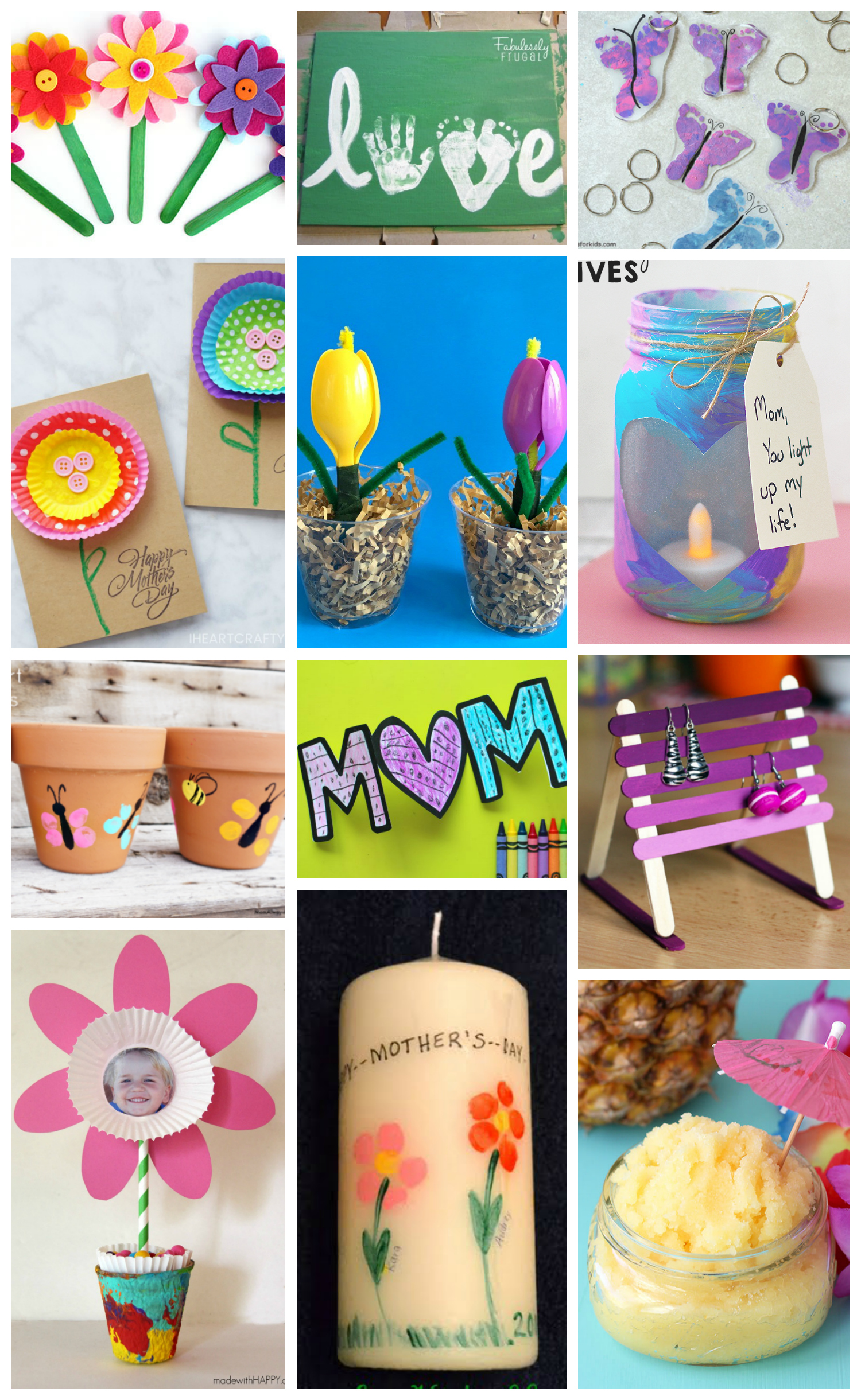 Awesome Diy Mother's Day Gifts Easy Mother S Day Crafts For Kids Happiness Is Homemade