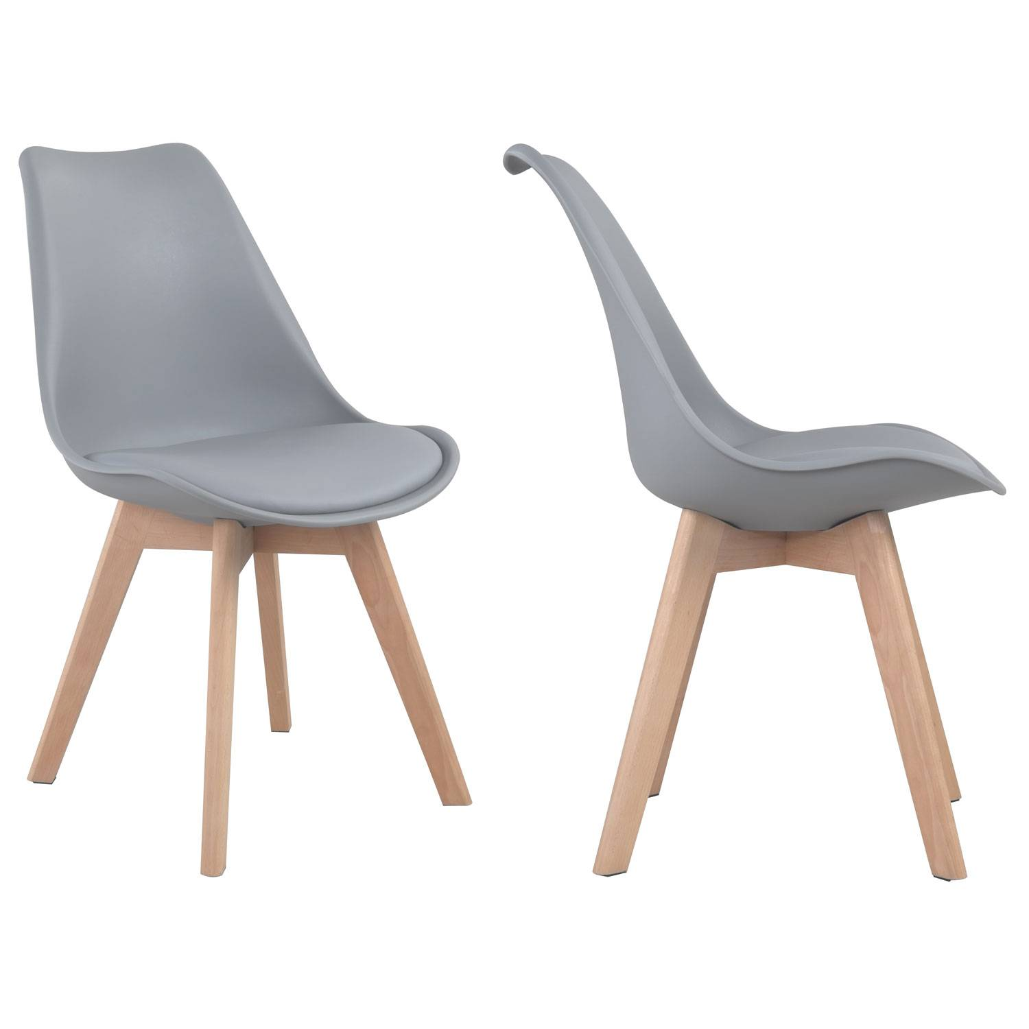 Chaise Scandinave Coque Grise Chaises Scandinaves Nora Grises