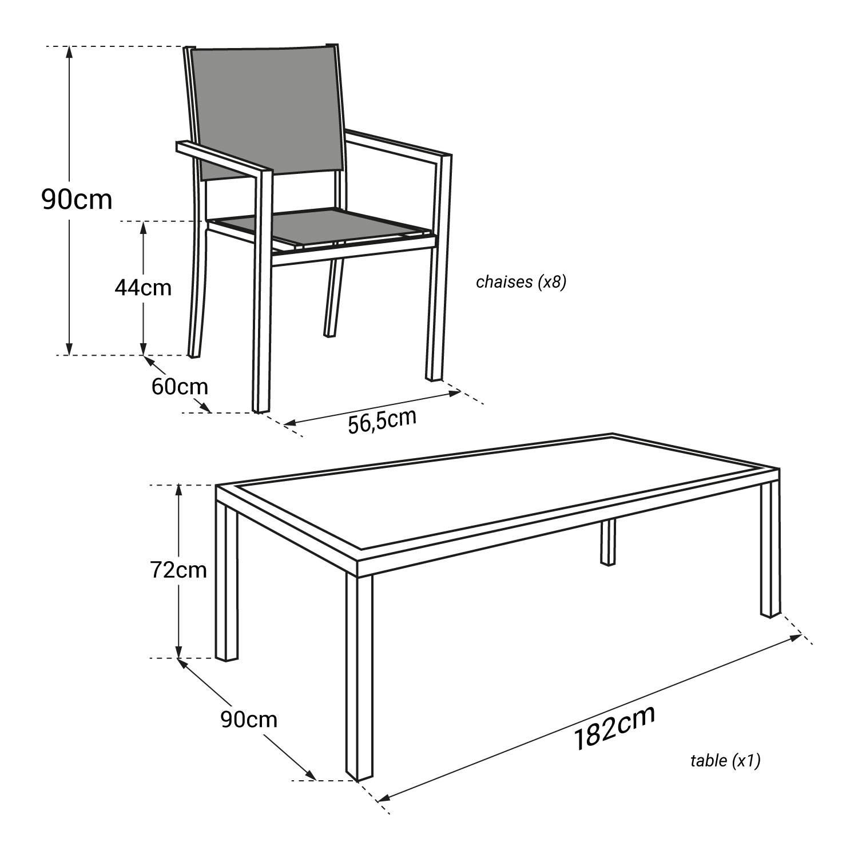 Chaise Salon De Jardin Blanc