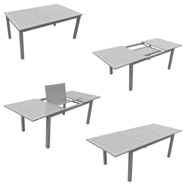 Ensemble Table De Jardin Et 6 Fauteuils En Aluminium Et Textilene ...