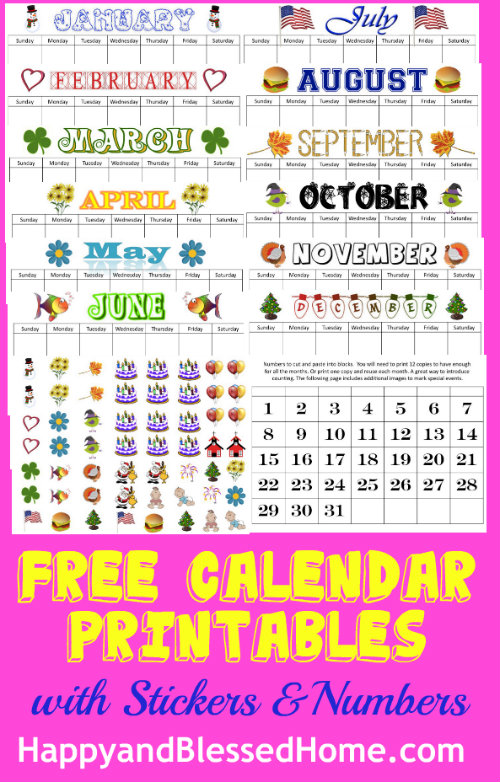Perpetual Calendar Printables - Happy and Blessed Home
