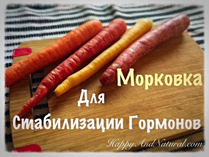 Свежая Морковка для Нормализации Гормонов