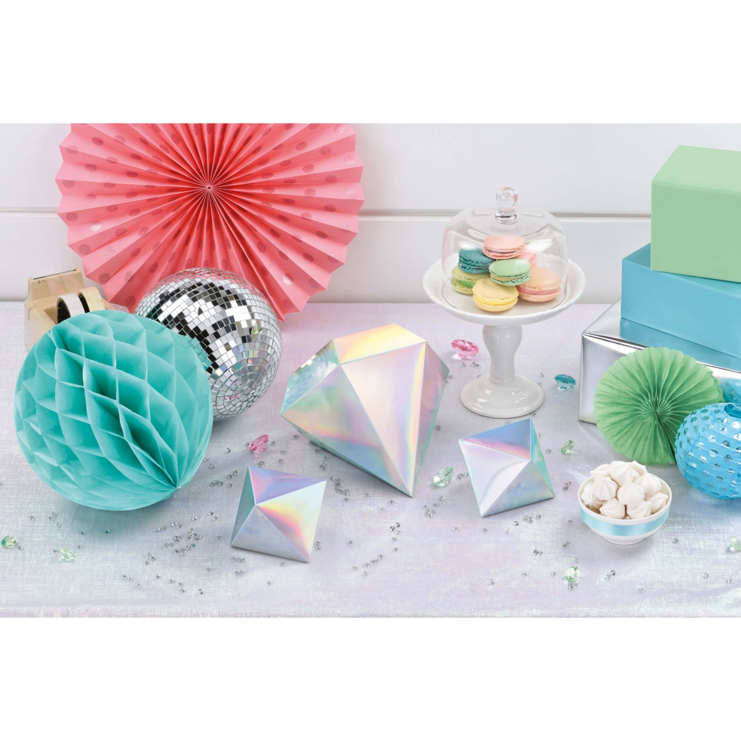 Party Tischdeko Shimmering Party 3 Tischdeko Diamanten 3d