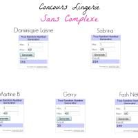 Produit Mignon du Lundi : Lingerie Sans Complexe (concours inside) ♥