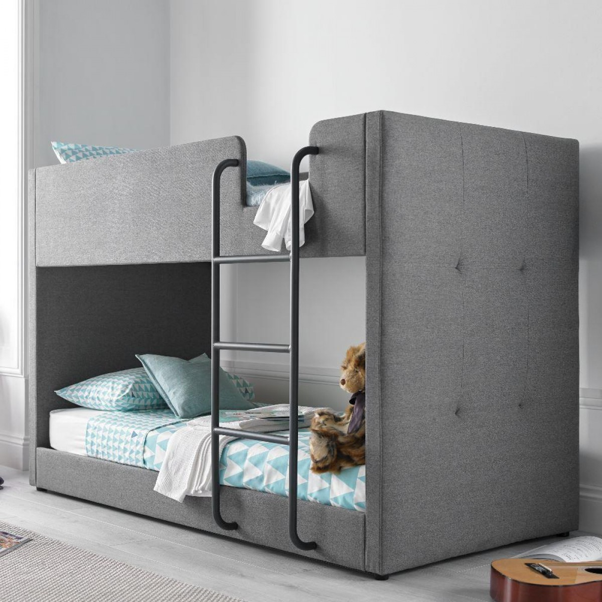 Saturn Bunk Bed Saturn Grey Fabric Bunk Bed