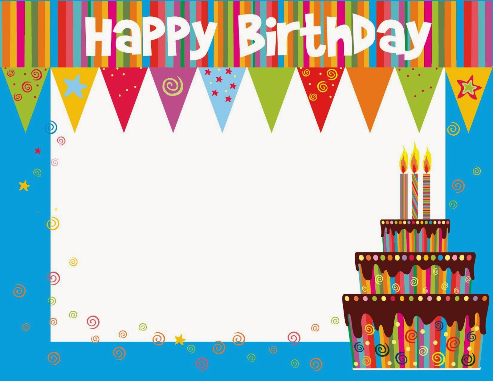 free birthday card printable templates