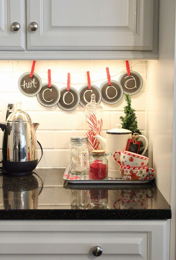 23 Captivating n Charming Christmas Kitchen Decor Ideas - christmas kitchen decor