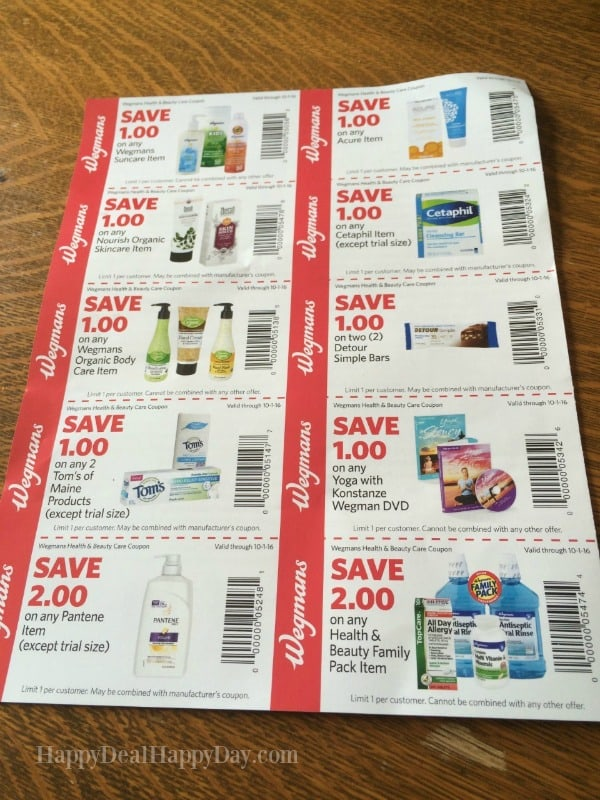 New Wegmans Back To School Coupon Booklet - 10 New Coupons! Happy