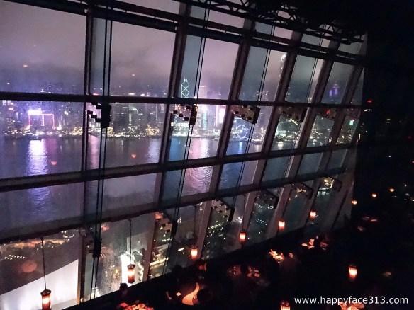 view from aqua bar on Hong Kong's skyline