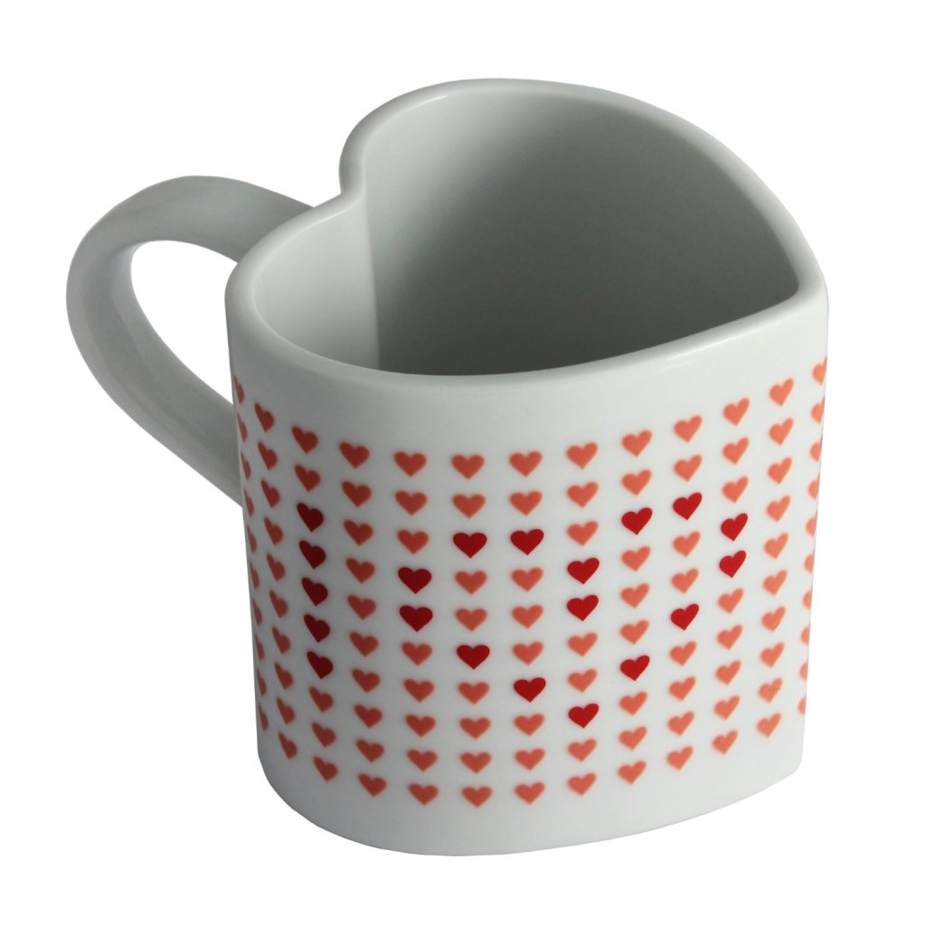 Odd Shaped Coffee Mugs 17 Beautiful And Unique Heart Shape Gifts For Women