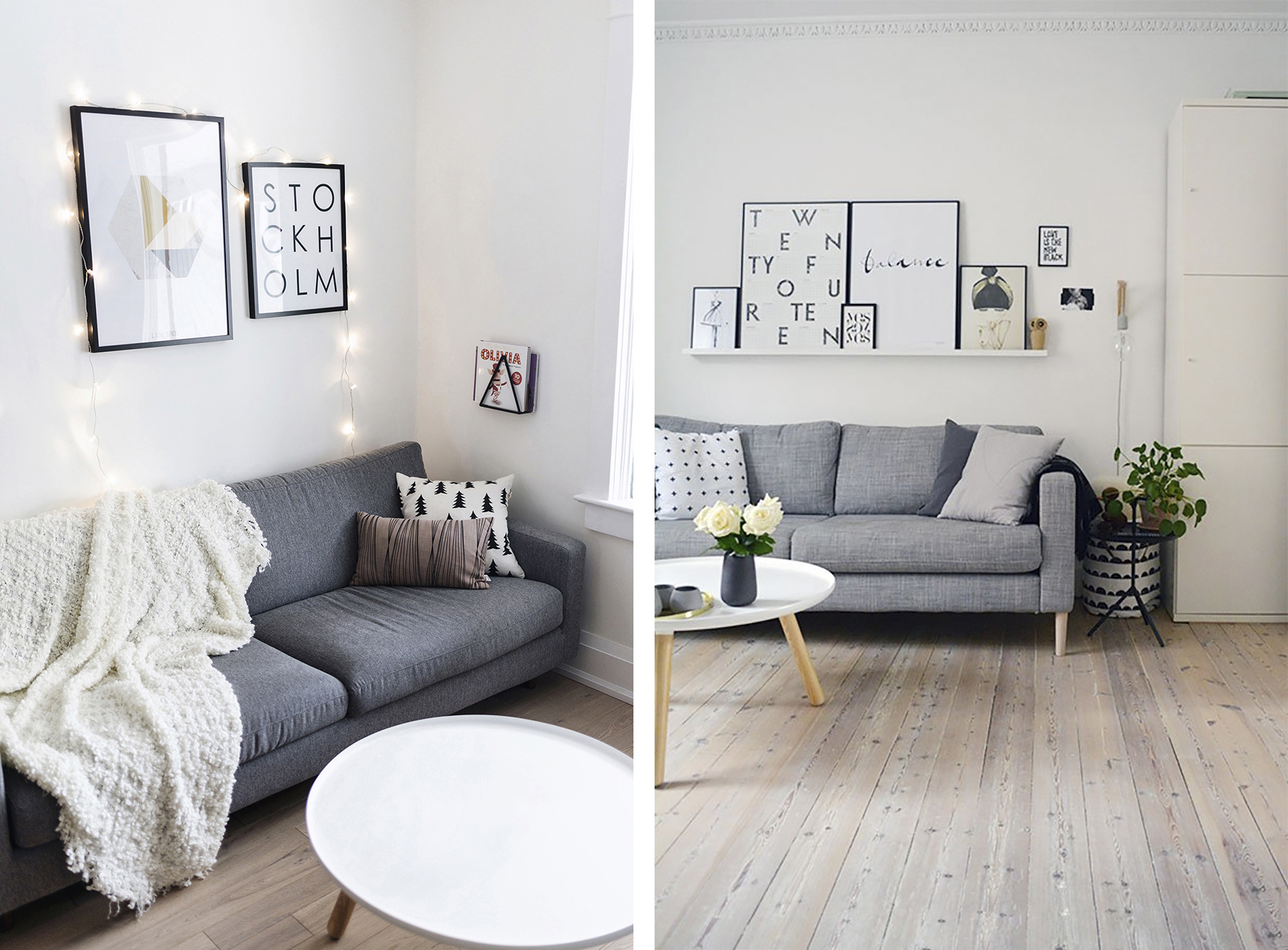 Living Room With Grey Sofa Top 10 Tips For Adding Scandinavian Style To Your Home Happy