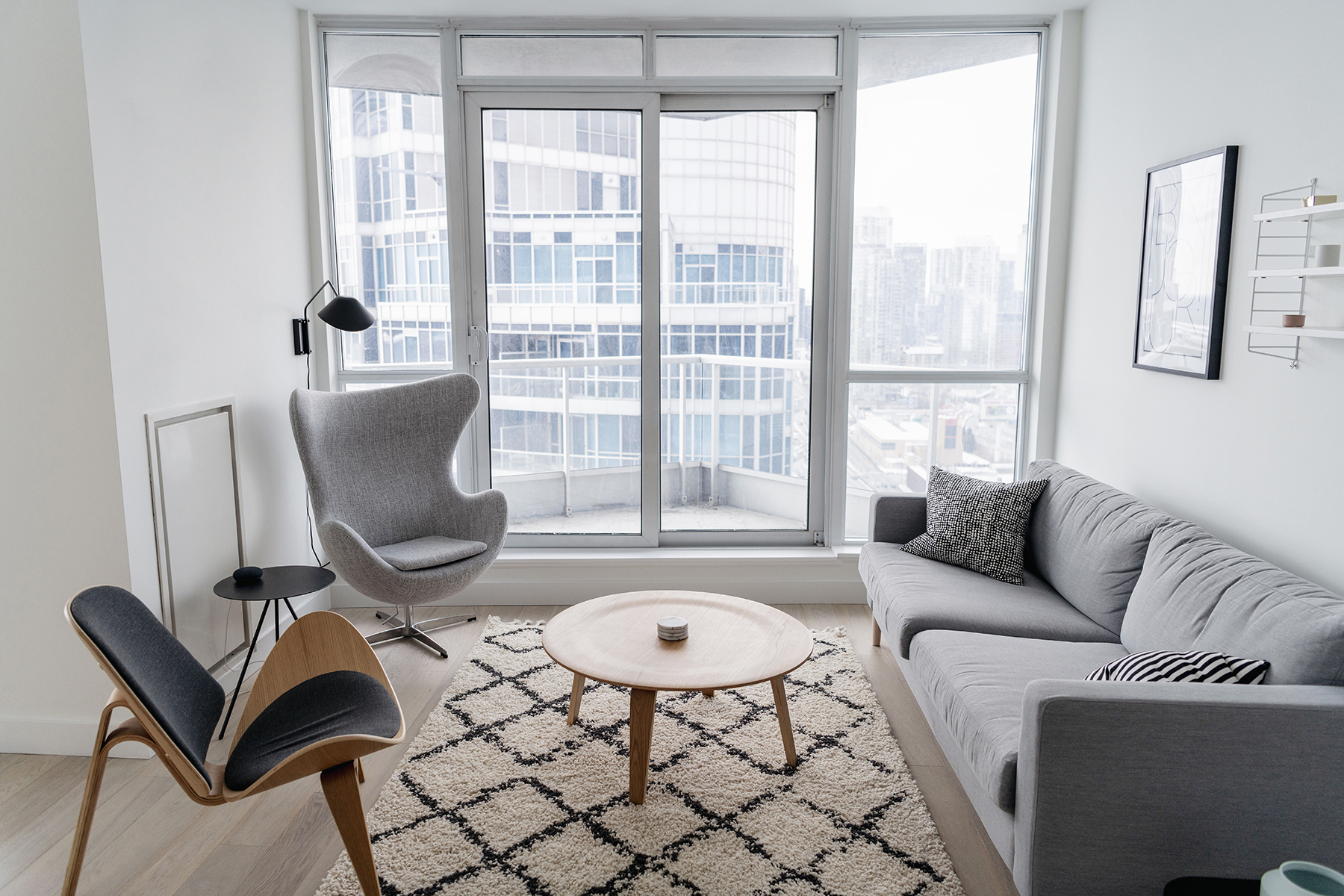 Minimalist Living Space Condo Living Tour A Bright Minimalist Space Happy Grey Lucky