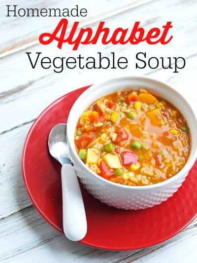Homemade Alphabet Vegetable Soup Recipe - Happy Healthy Mama
