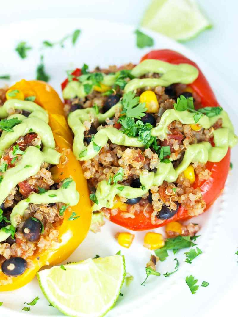 Mesmerizing Mexican Vegan Stuffed Peppers Slow Cooker Recipe Vegan Mexican Stuffed Peppers Cooker Happy Healthy Mama Vegetarian Mexican Recipes Pinterest Vegetarian Mexican Recipes Indian Style