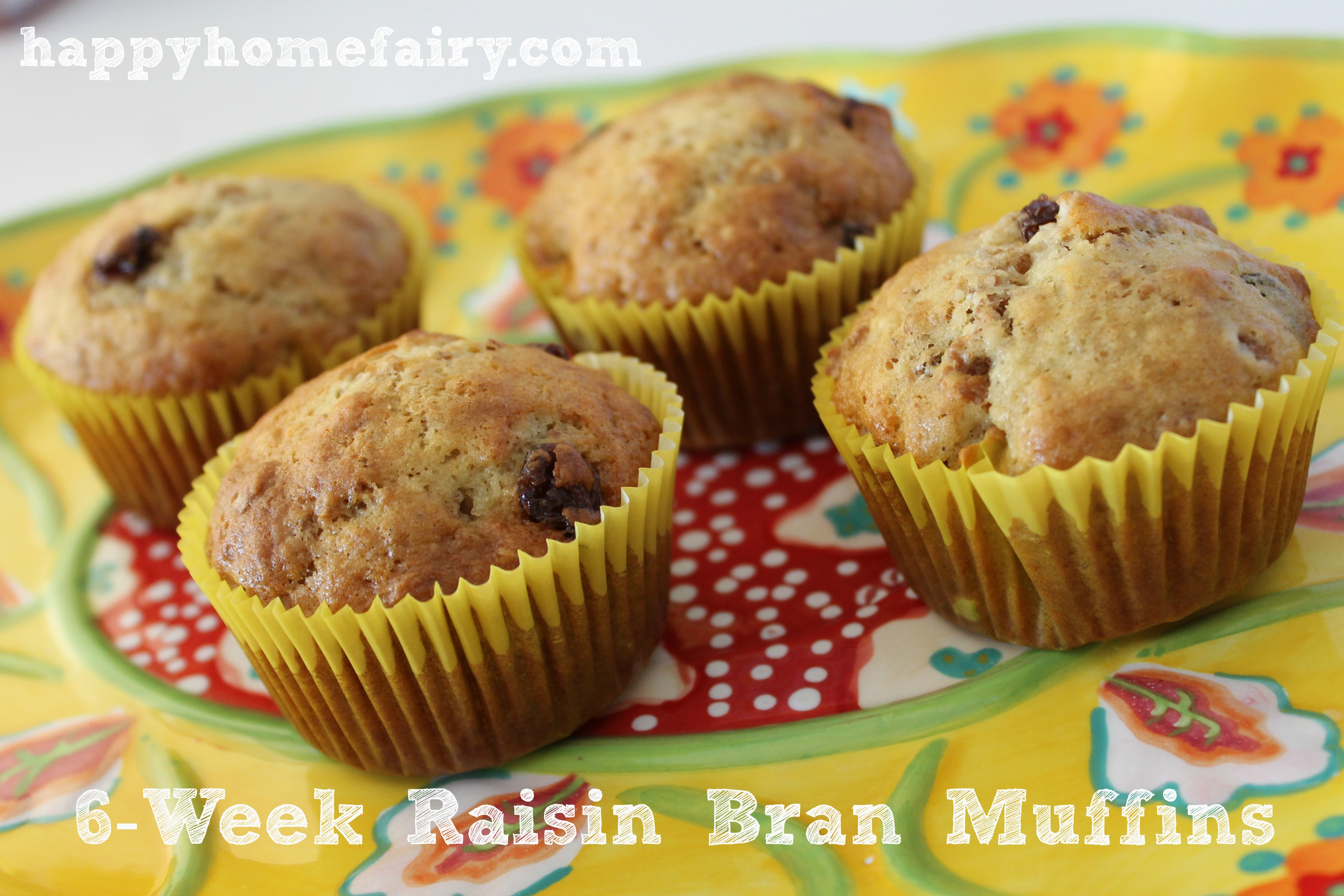 Week Raisin Bran Muffins and the Big Brown Bowl - Happy Home Fairy