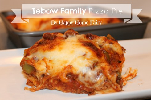 tebow family pizza pie at happyhomefairy.com