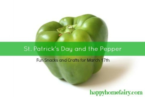 green pepper snacks for st. pat's day