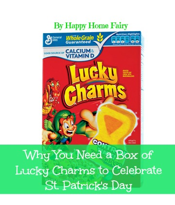 several fun ways to celebrate st. patrick's day using lucky charms cereal! love this!