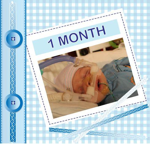 Happy Baby - 1 month
