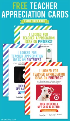 Creative Ways to Give Teachers a Gift Card