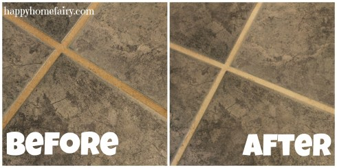 cleaning grout before and after