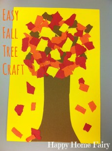 Easy Fall Tree Craft