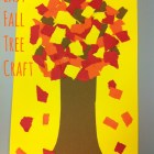 easy fall tree craft!