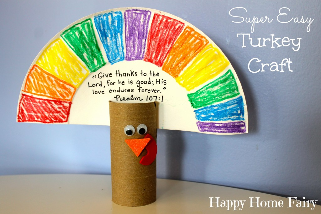 Super Easy Turkey Craft Happy Home Fairy
