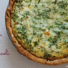 Ham and Broccoli Quiche - perfect for all that leftover Easter ham! A great dish for a baby or bridal shower!.jpg