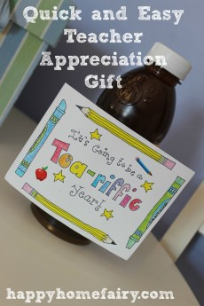 Easy Back to School Teacher Appreciation Gift