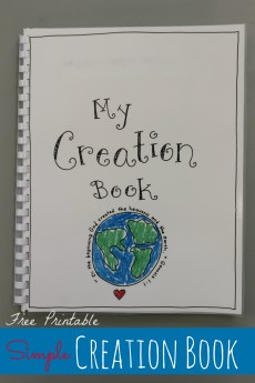 Creation Book – FREE Printable!