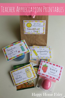 5 Simple Teacher Appreciation Gifts – FREE Printables