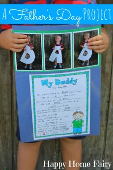 A Father's Day Project – FREE Printable