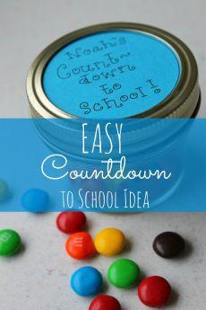 Easy Countdown to School Idea