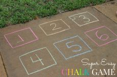Super Easy Outdoor Chalk Game