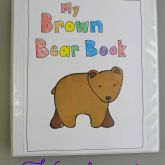 Brown Bear Handprint Keepsake Book - this is AWESOME! What a fun and adorable way to teach colors!