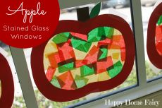 Apple Stained Glass Windows