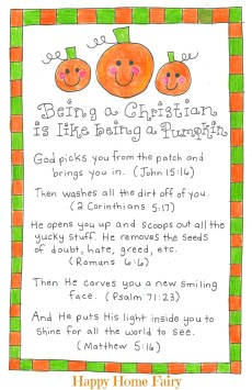Being a Christian Is Like Being a Pumpkin – FREE Printable!
