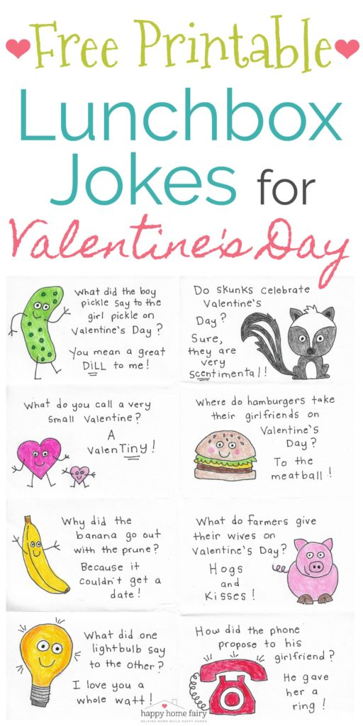 Lunchbox Jokes for Valentine\u0027s Day - FREE Printable! - Happy Home Fairy