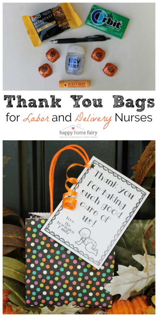 Thank You Gift for Labor and Delivery Nurses - FREE Printable