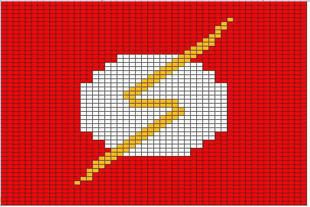 Free Flash Cross Stitch Pattern Patterns Super hero \ villans - graph paper