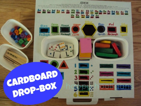 Fine Motor Drop Box Awesome Homemade Learning Activity