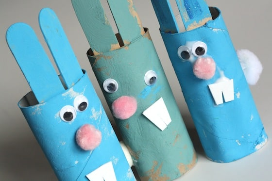 Easter Crafts For Kids Toilet Roll Easter Bunnies