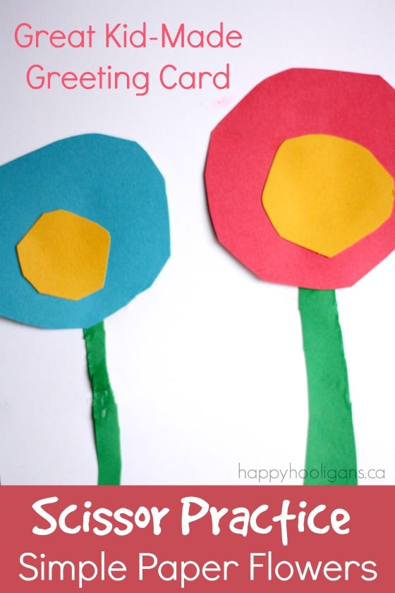 Making Paper Flowers for Homemade Greeting Cards