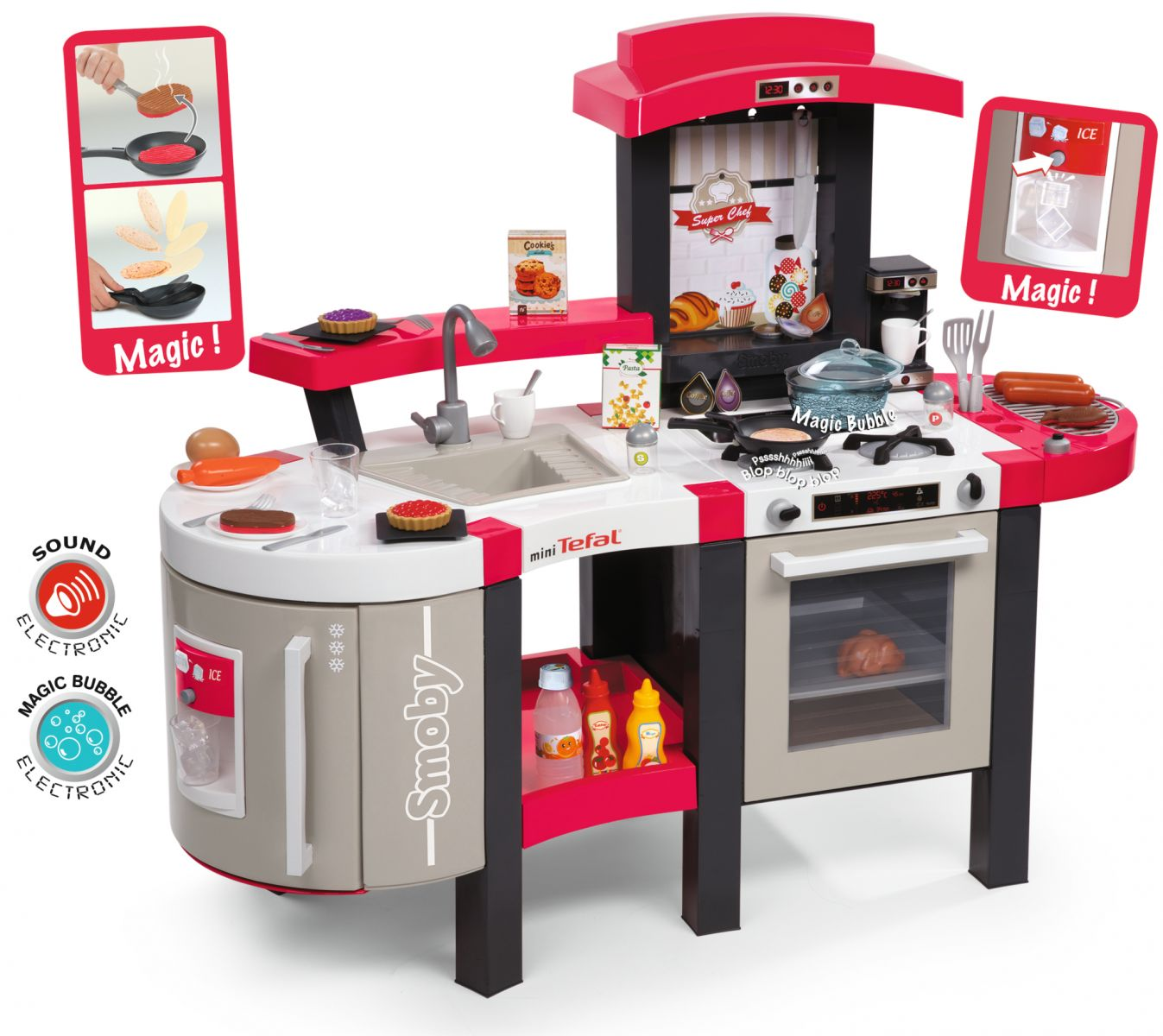 Smoby Tefal Küche Super Chef Excellence Smoby Tefal Super Chef Kitchen Childrens Kitchens Role