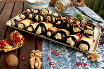 Georgian Eggplant Rolls with Walnuts • Happy Kitchen.Rocks